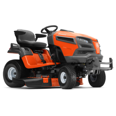 Husqvarna TS343 oldalkidobós fűnyíró traktor, sajtolt vágóasztallal