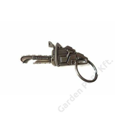 Husqvarna fém kulcstartó, sörnyitó funkcióval